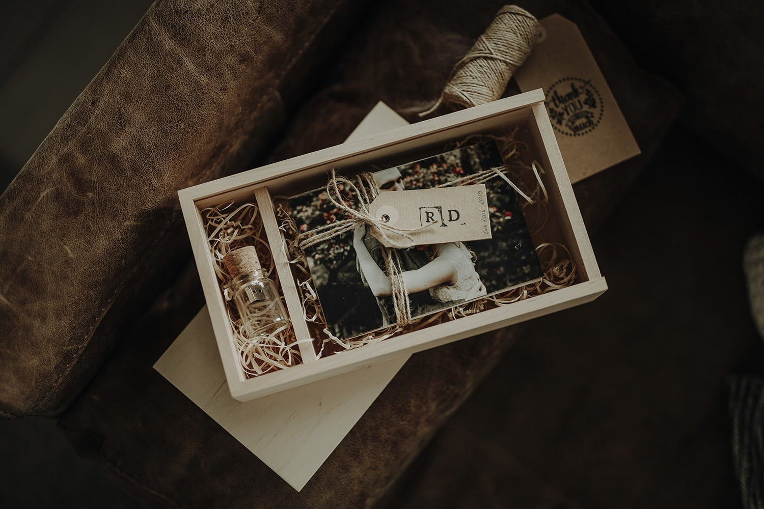 wooden box for photographers