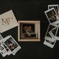 wooden box for instax prints