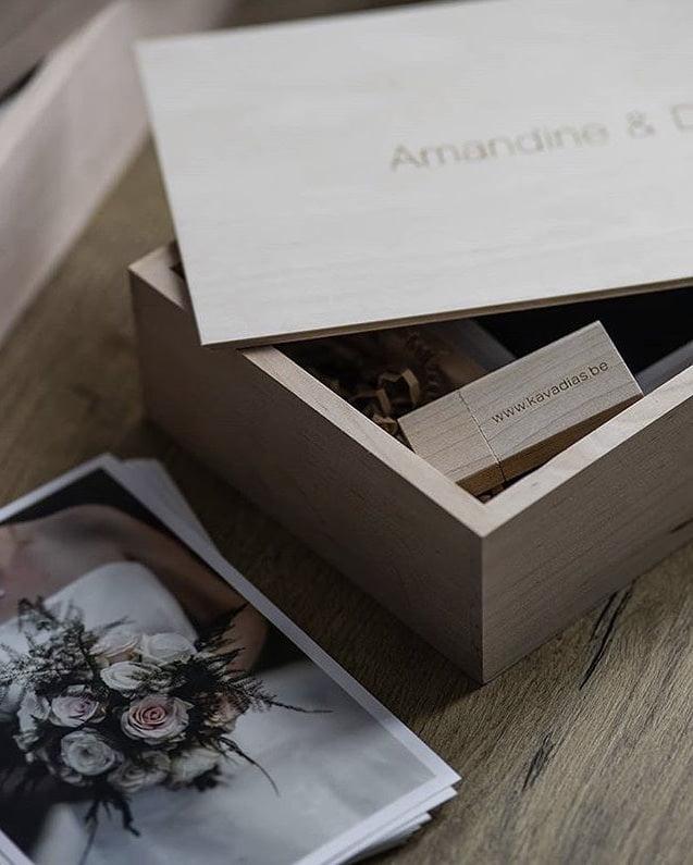 rectangular box from wooden banana