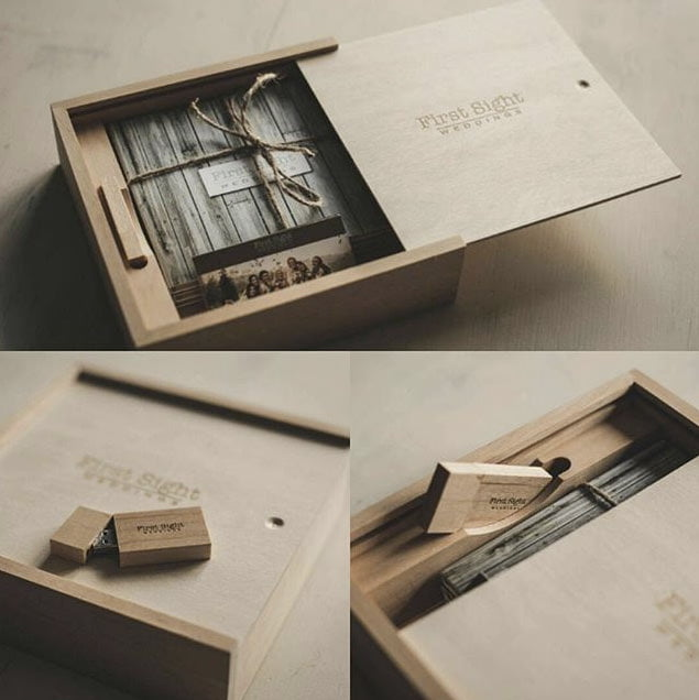 wooden box for usb from wooden banana