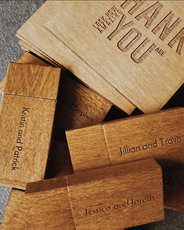 wooden memory stick from wooden banana