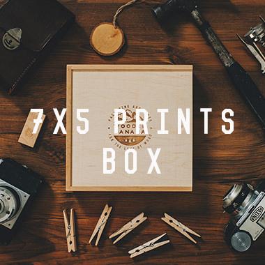 7x5 prints box