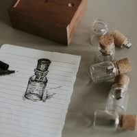glass bottle memory stick