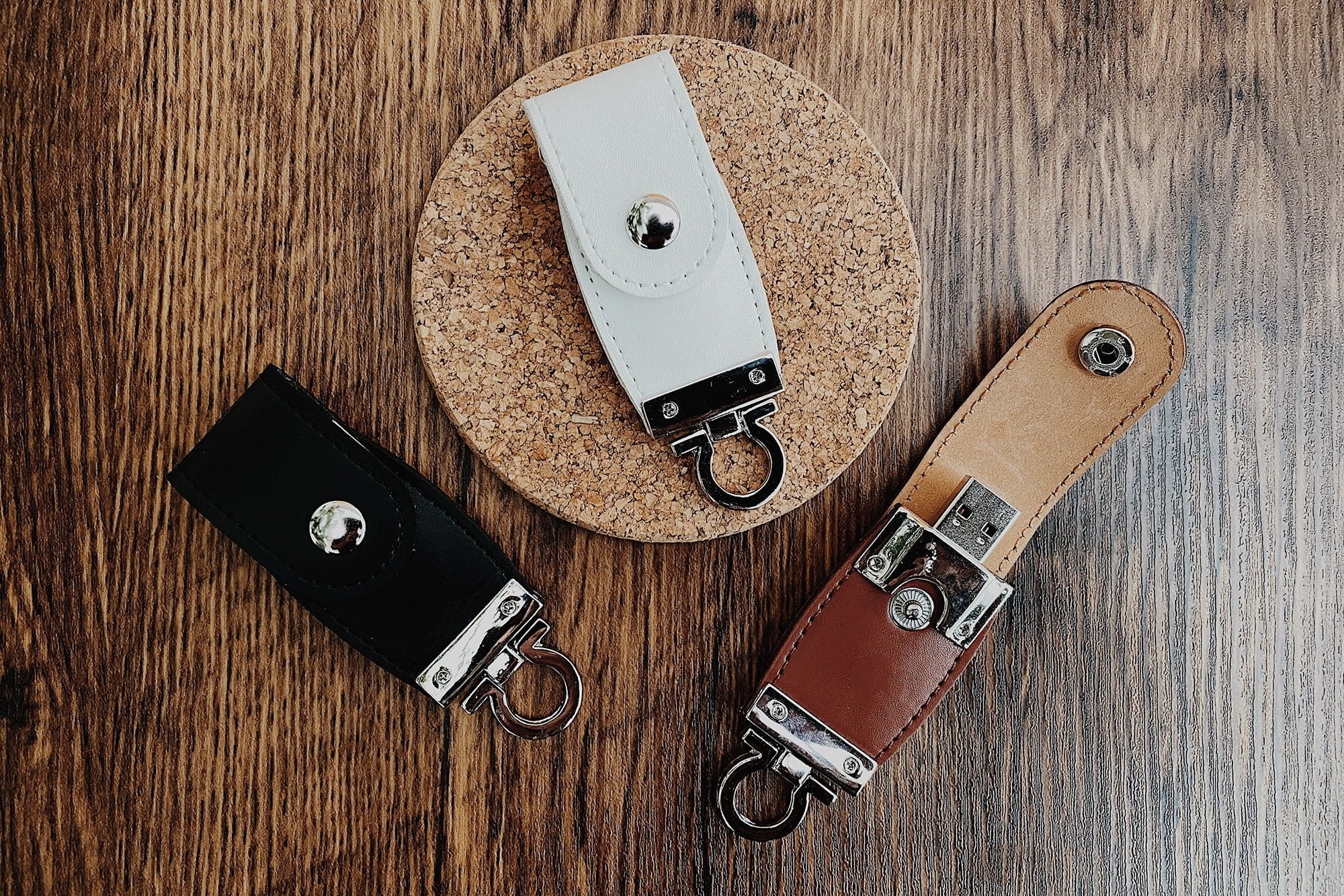 leather clip usb