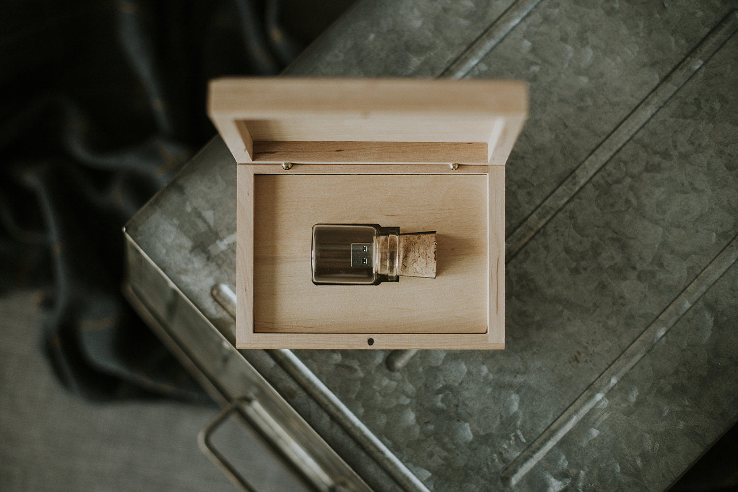 wooden usb case
