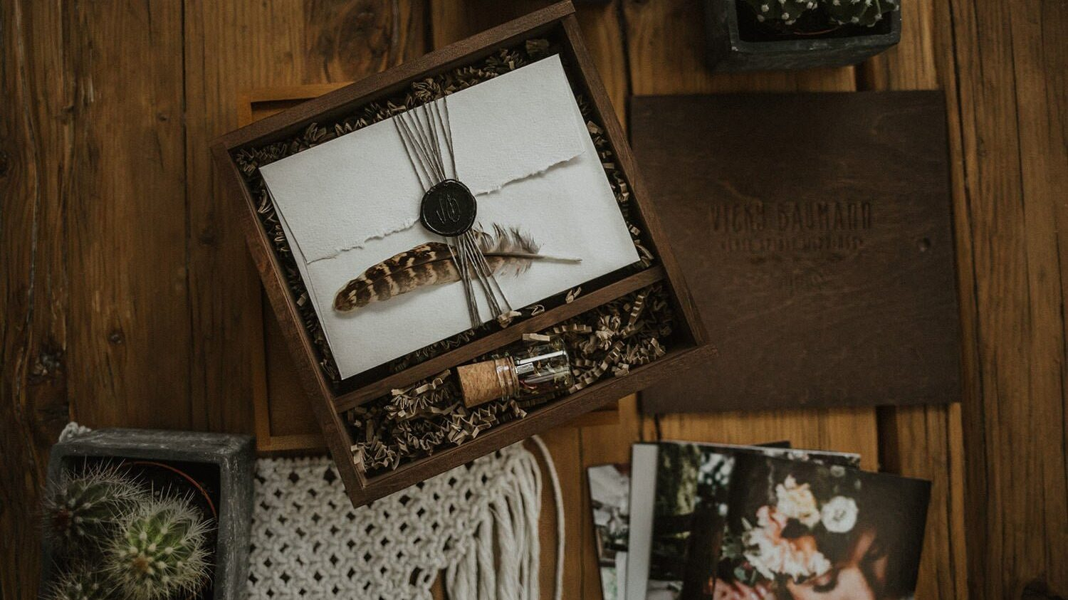 Vicky Baumann photography packaging. 3