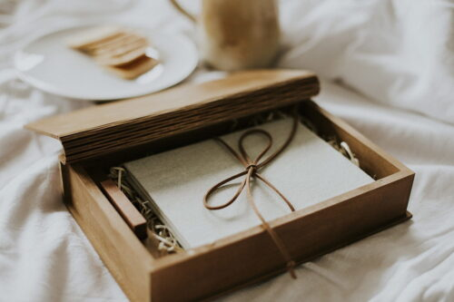 book shaped wooden box
