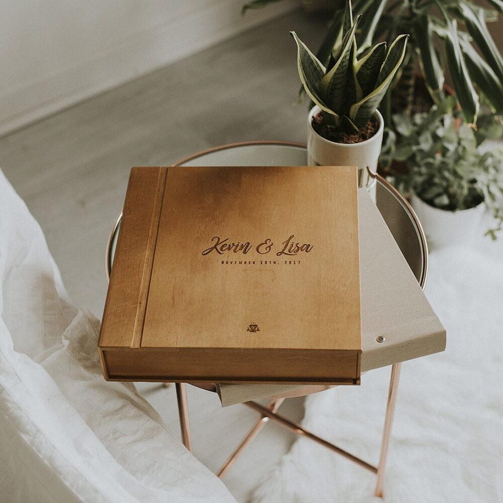 wooden album box