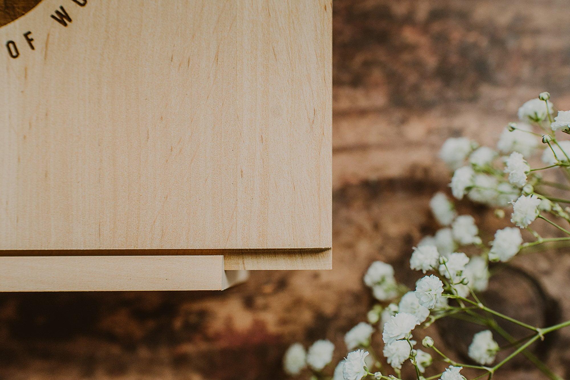 premium wooden rectangular box