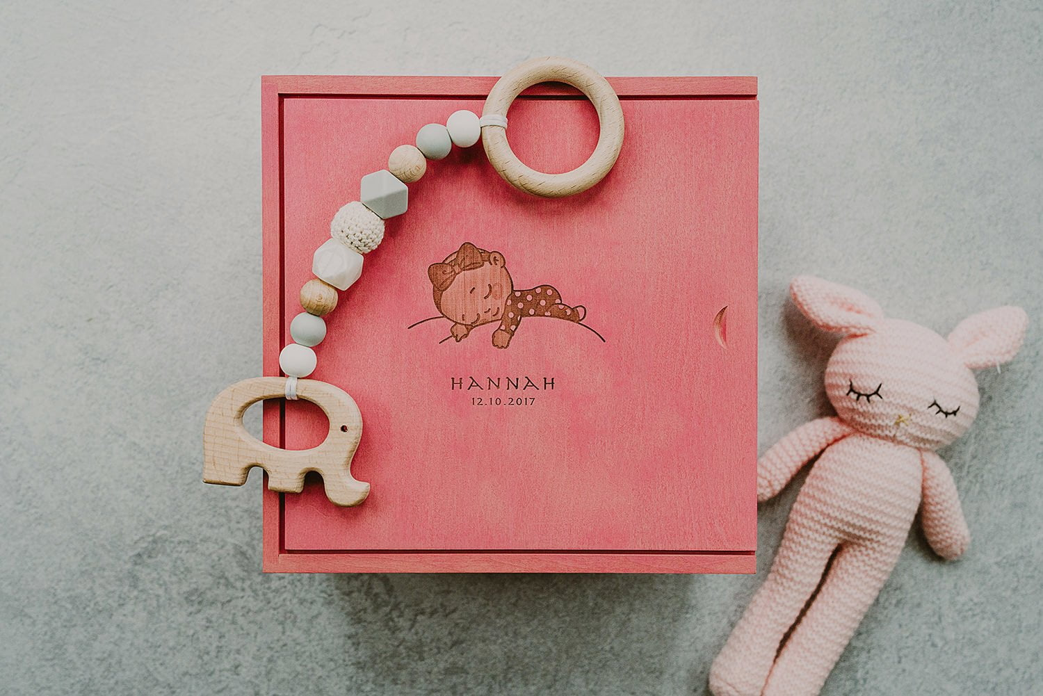 keepsake box for a newborn girl