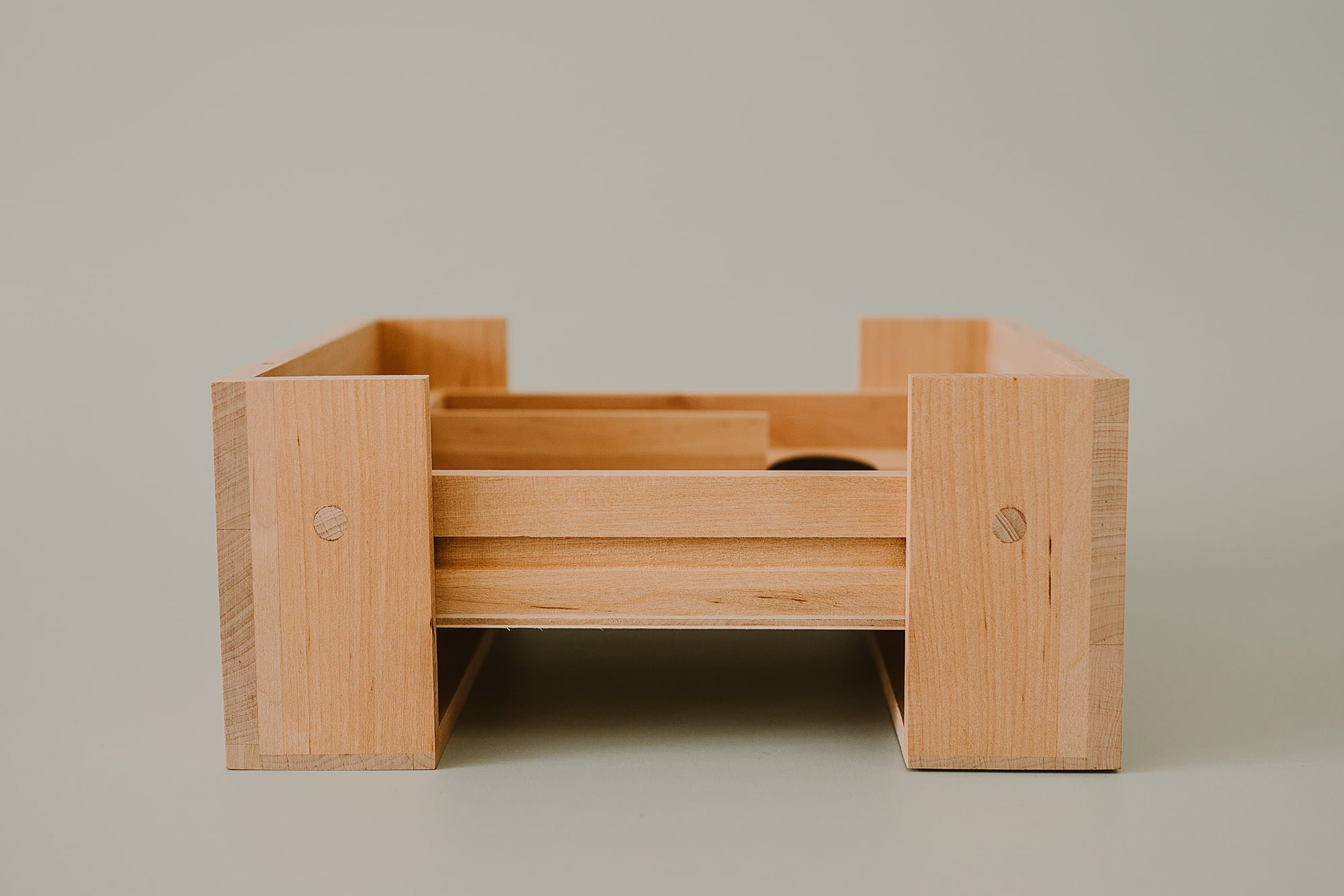 sliding wooden box