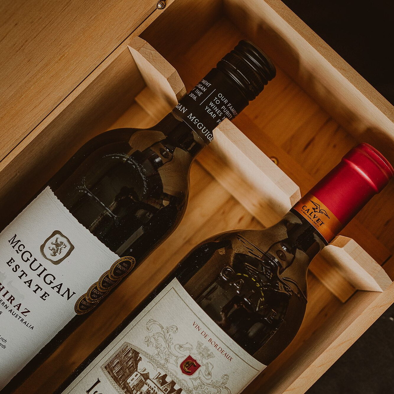 two bottle wine box