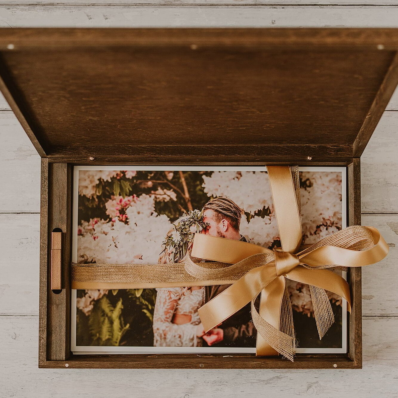 wooden box for large prints
