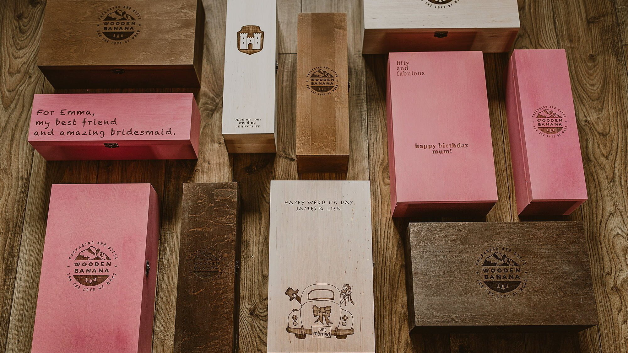 Wooden Banana Top 3 - ideas how to use Wine Boxes 5