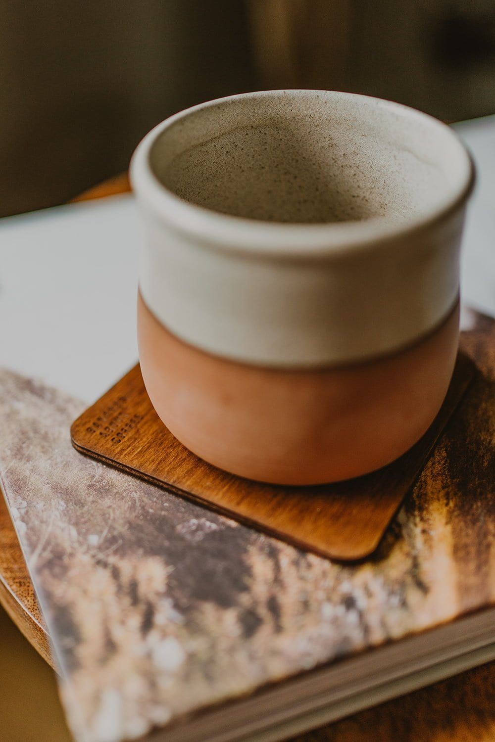 wooden coffee coasters
