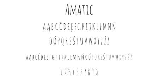 font 3 amatic 22