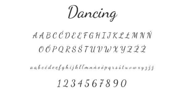 font 5 dancing 24